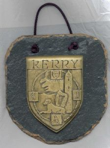 Kerry County Crest slate wall plaque